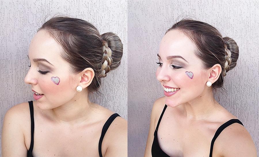 maquiagem para o carnaval batom com glitter montagem