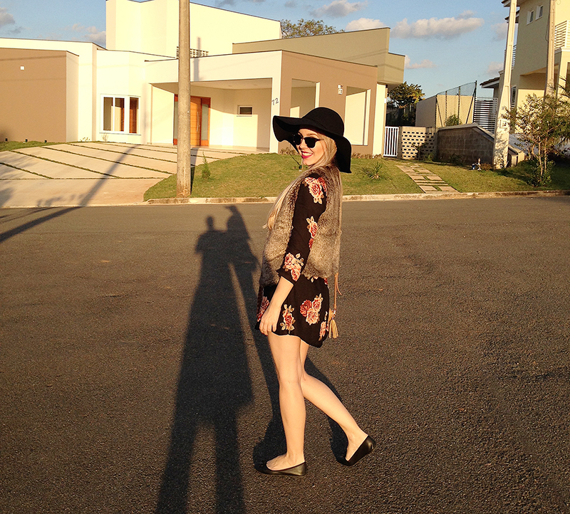 look do dia floral e chapeu 5