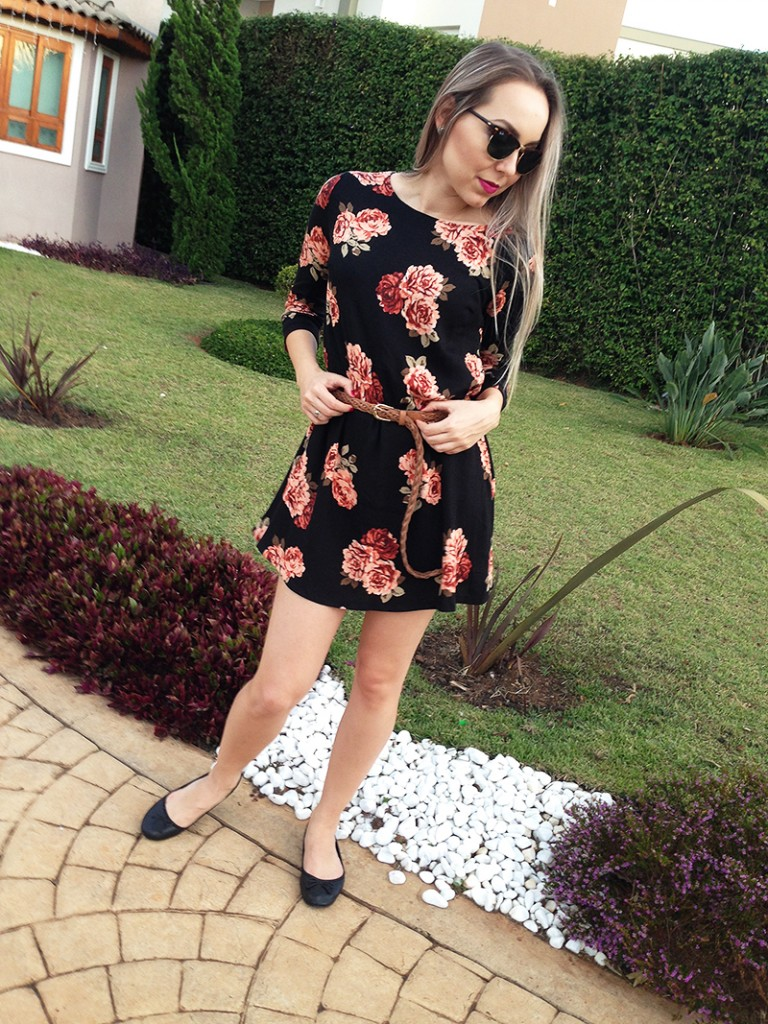 look do dia floral e chapeu 7