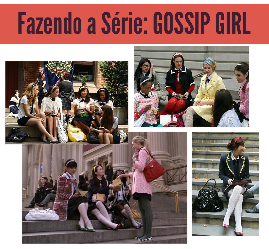 escadarias Gossip Girl fazendo a série