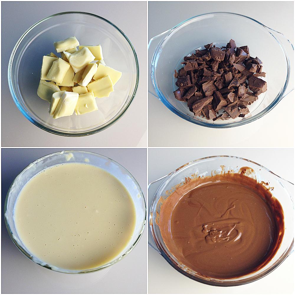 pave de chocolate branco e preto