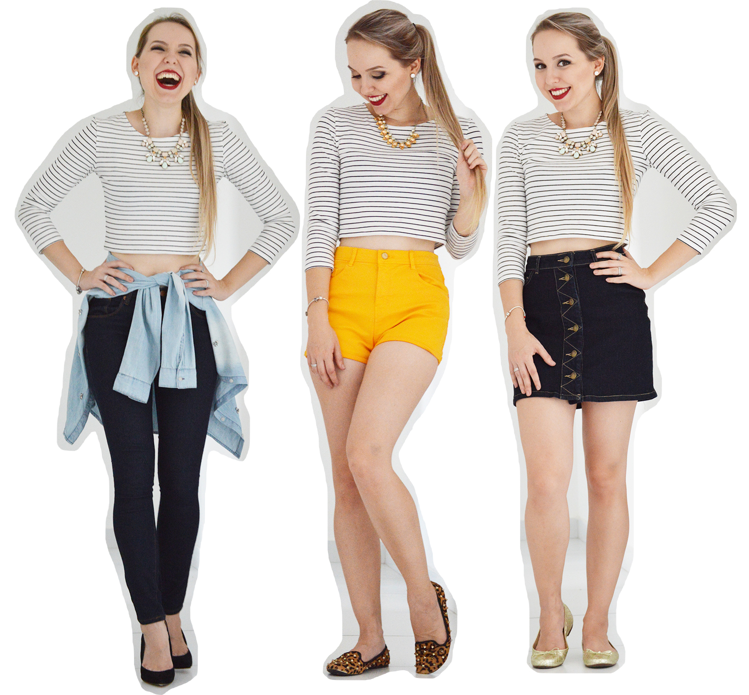 1 peça 3 looks- cropped listrado final