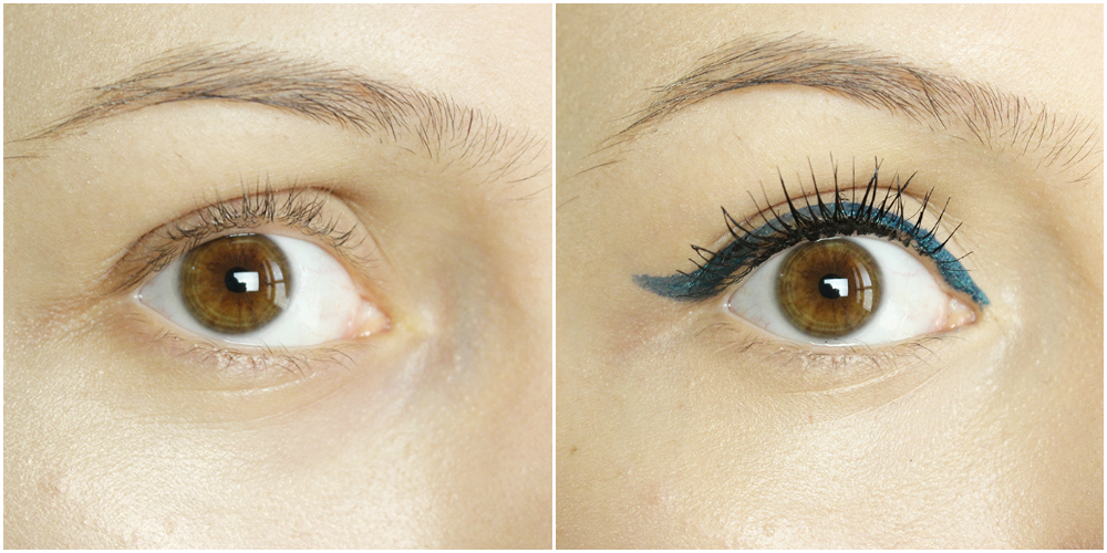 delineador azul petróleo cintilante Motivation e rímel Eyes Right Lush 1