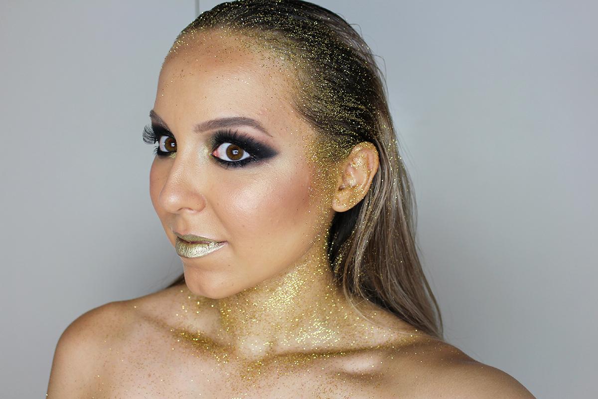 maquiagem carnaval sereia dourada