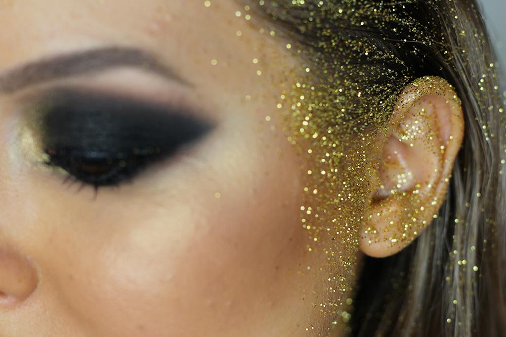maquiagem de carnaval sereia dourada glam 4