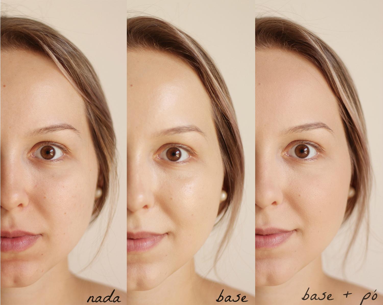 maquiagens lush base concentrada e pó translúcido montagem