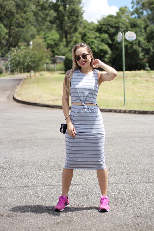 look vestido com tênis 10