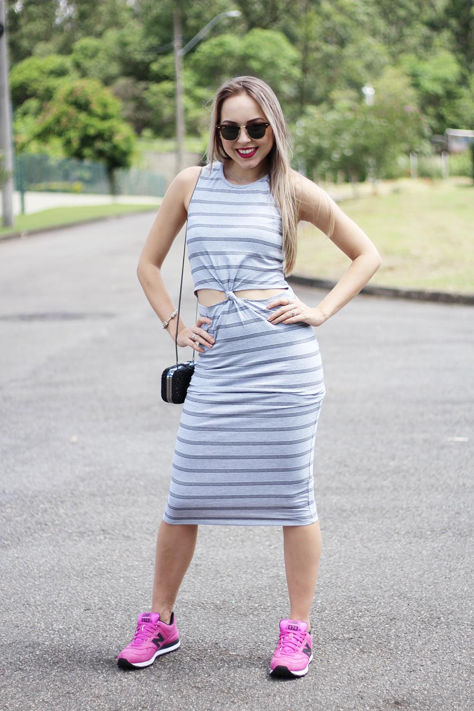 look vestido com tênis 9