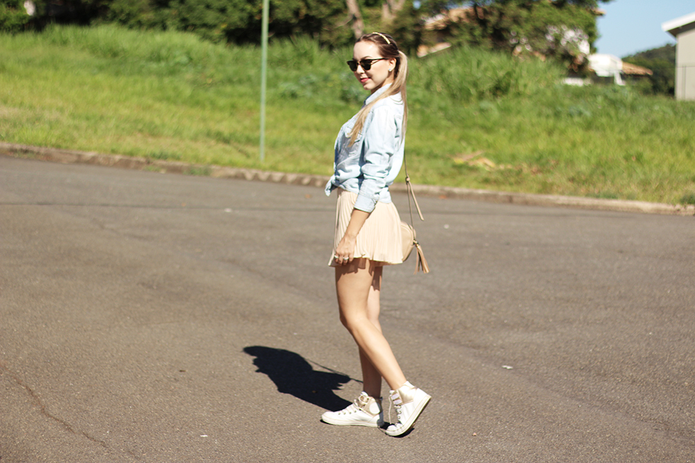 look do dia shorts saia cropped