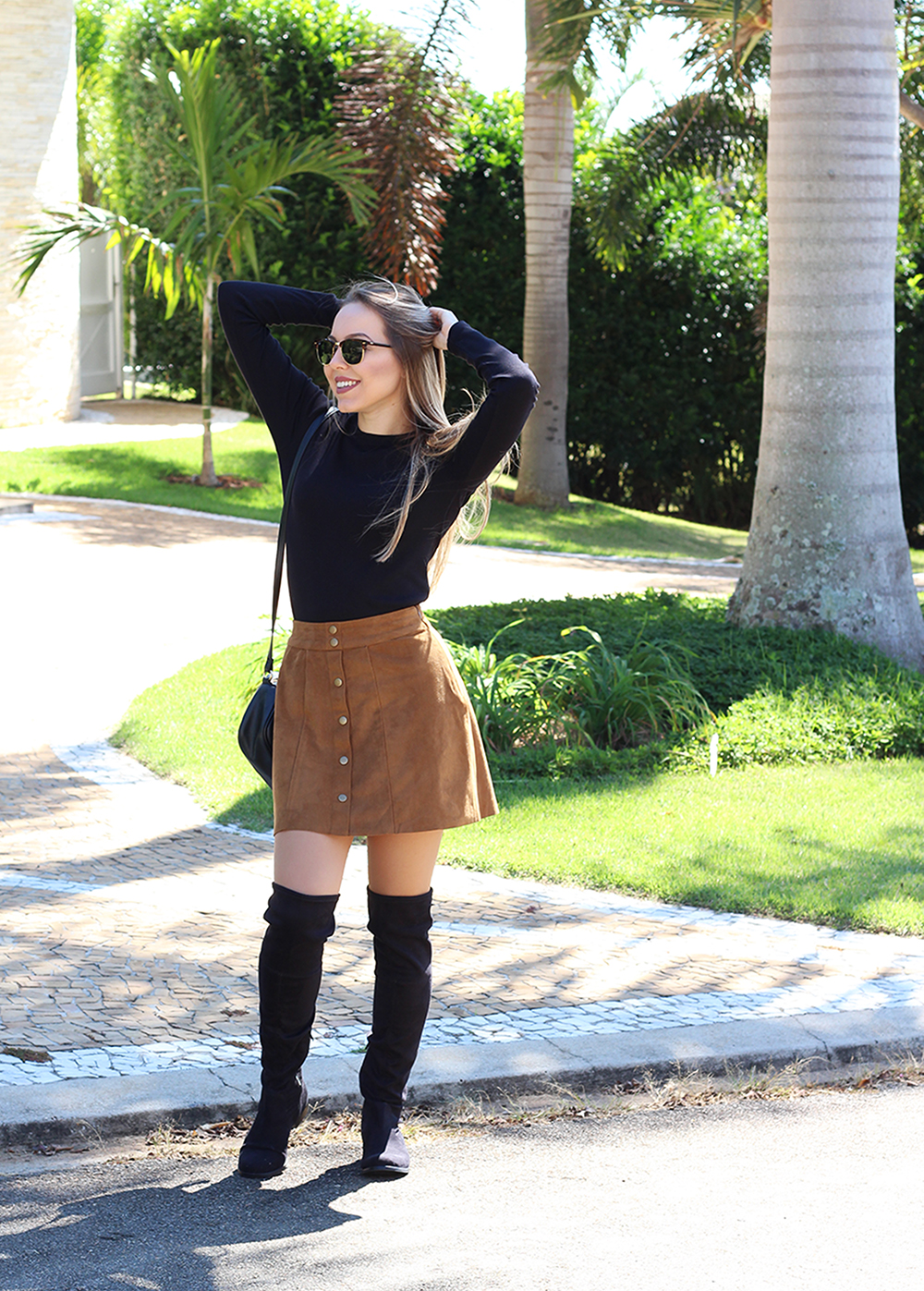 look saia caramelo over the knee 3