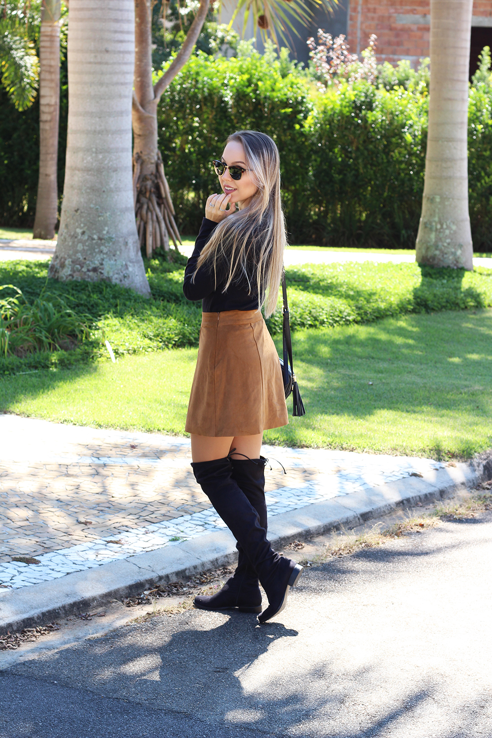 look saia caramelo over the knee 4