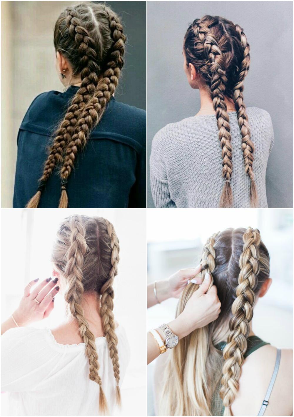 penteados com tranças Festa Junina 2