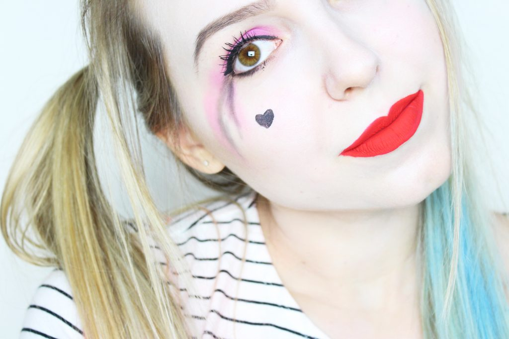 harley quinn make up hamburguesinha