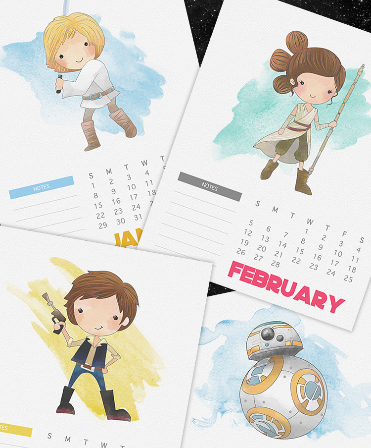 calendario-planner-2017-gratis-star-wars