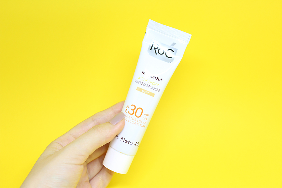 roc minesol actif unify tinted mousse 2