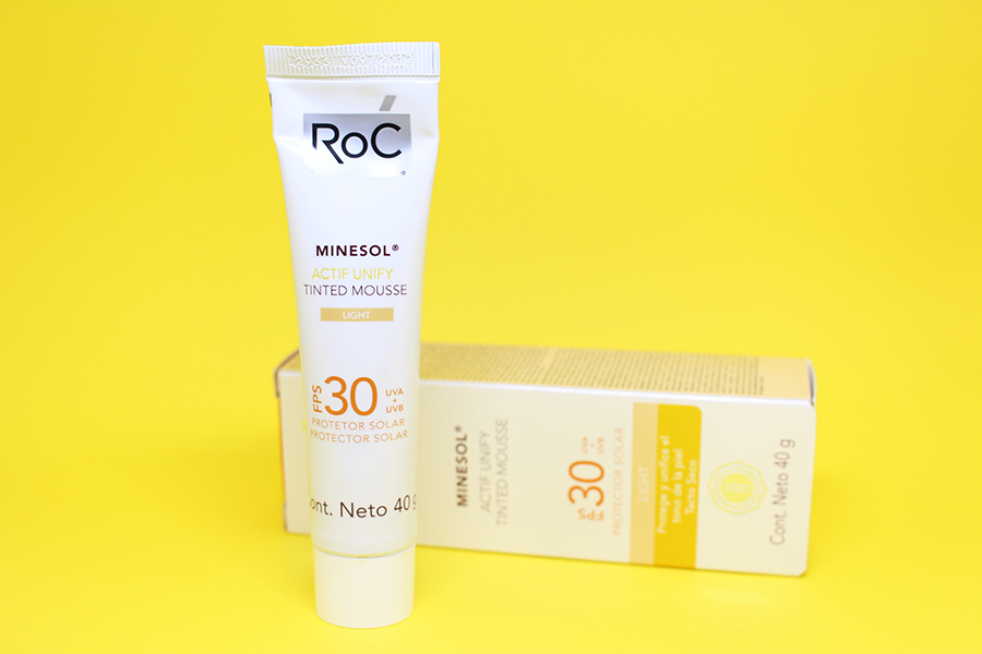 roc minesol actif unify tinted mousse 6