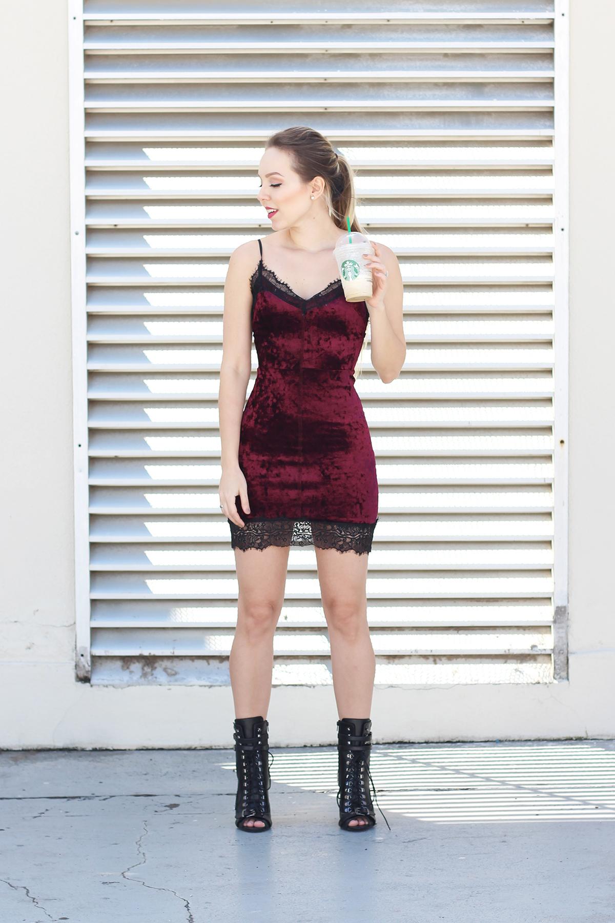 vestido de veludo e coturno 3