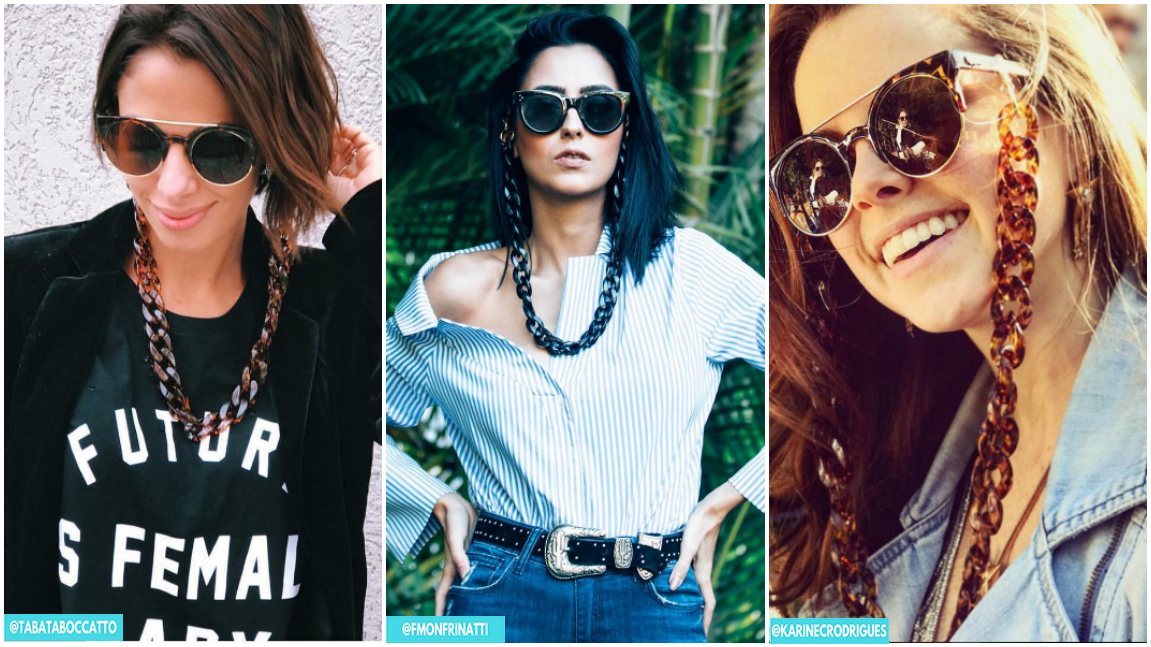 sunglasses chain correntes para oculos tendencia copy