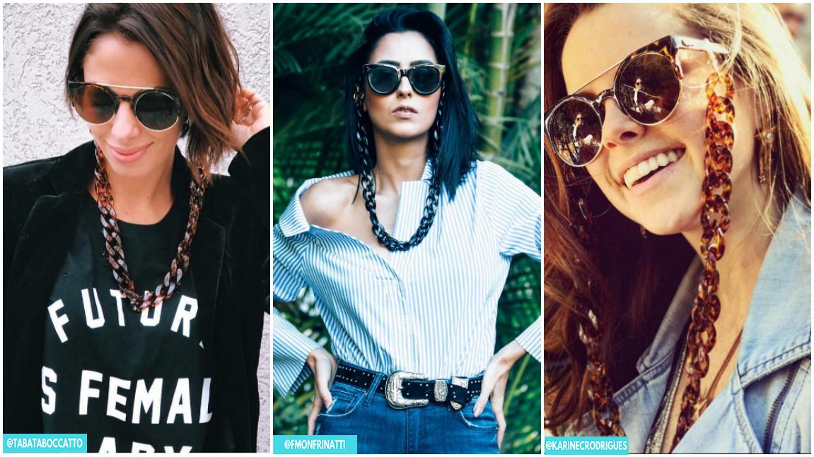sunglasses chain correntes para oculos tendencia copy