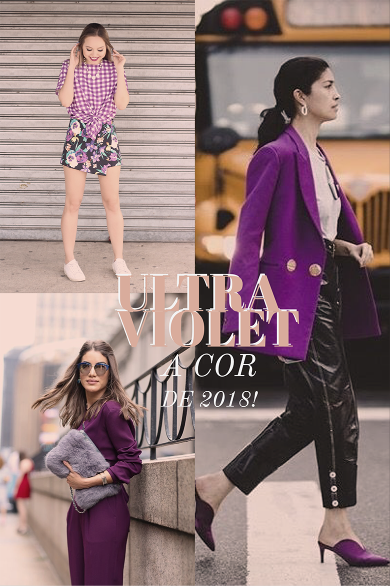 Previsoes Fashion para 2018 ultra violet